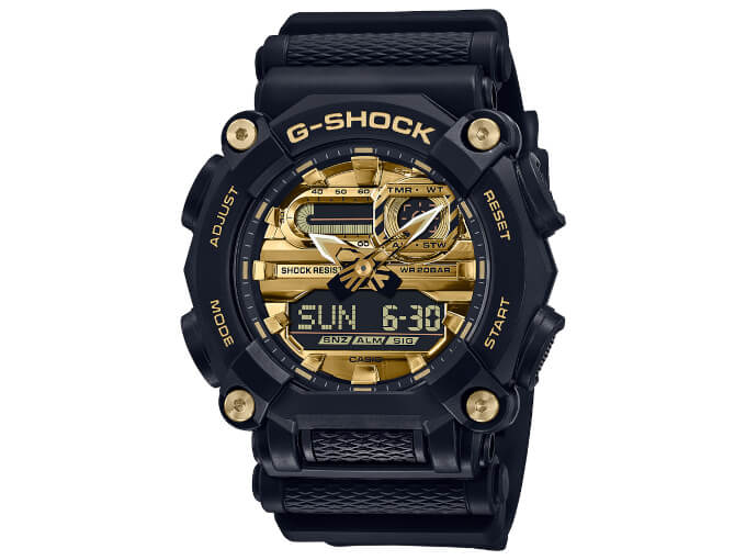 G-Shock GA-900AG-1A Black and Gold Dial