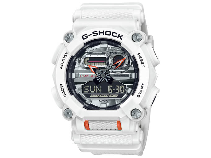 G-Shock GA-900AS-7A White and Silver Dial