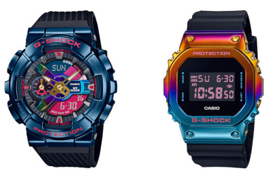 G-Shock GM5600SN-1 with Rainbow IP now available in U.S.A. (Also GM-110SN-2A, GM-5600SN-1 for Asia)