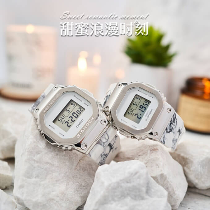 G-Shock GM-5600MA GM-S5600MA Stainless Steel Bezel and Marble Band
