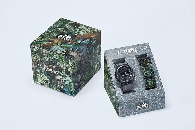 Elnest Creative Activity x Pro Trek PRW-30ECA-1JR Box
