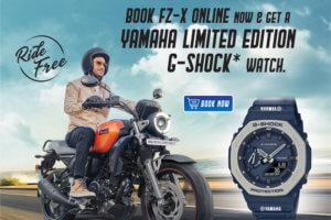 India: Free G-Shock GA-2110 to first 200 Yamaha FZ-X buyers