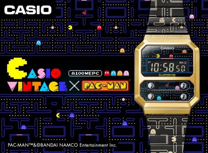 Pac-Man x Casio A100WEPC-1B Collaboration Watch