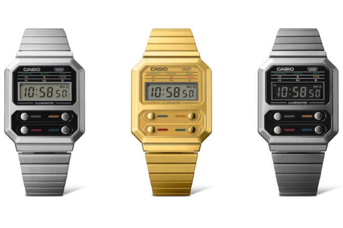 """New Casio A100 (A100WE) is a tribute to the F-100 watch from """"Alien"""""""