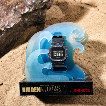 Sea Wave Edition DW-5600WS with Wave Display Stand