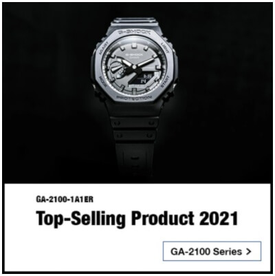 G-Shock GA-2100-1A1ER is Casio Europe's top-selling product