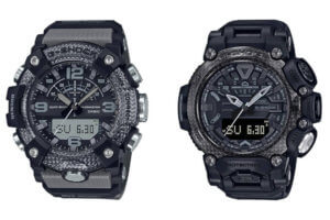 G-Shock Mudmaster GG-B100-8A & Gravitymaster GR-B200-1B: Black and Gray, First GG-B100 with non-inverted LCD