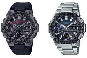 G-Shock GST-B400X-1A4 and GST-B400XD-1A2 are the slimmest G-STEEL watches with a carbon fiber bezel