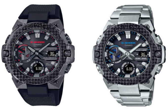 G-Shock GST-B400X-1A4 and GST-B400XD-1A2: Slimmest G-STEEL watches with carbon fiber bezel