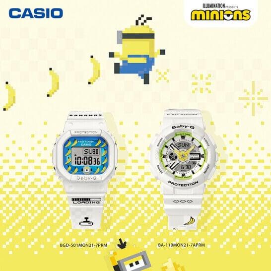 Minions x Baby-G BA-110MON21-7APRM BGD-501MON21-7PRM