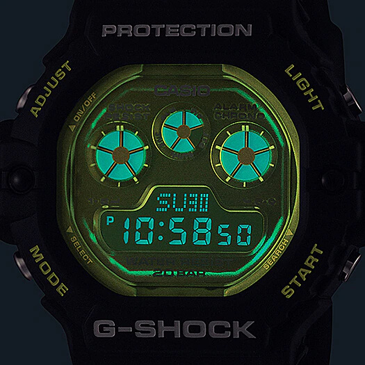 G-Shock DW-5900TS-1 EL Backlight