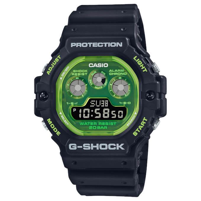 G-Shock DW-5900TS-1 Black and Green