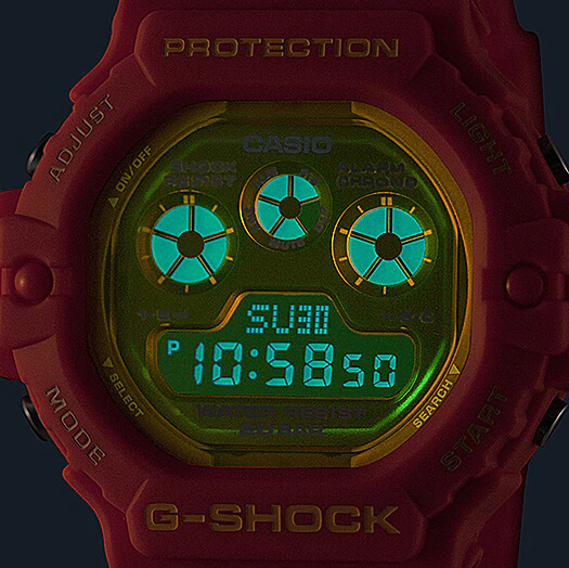 G-Shock DW-5900TS-4 EL Backlight