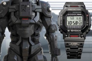 Mech-inspired G-Shock GMW-B5000TVA-1 Titanium Virtual Armor watch is unlike any other full metal square