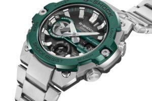 G-Shock G-STEEL GST-B400CD-1A3 has a green ion plated bezel