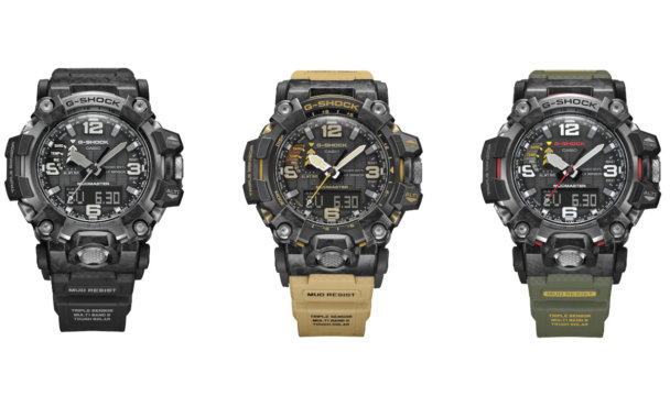 G-Shock Mudmaster GWG-2000 is made of forged carbon and has a Carbon Core Guard case