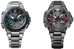 G-Shock  MTG-B2000XD-1A and MTG-B2000YBD-1A: First MTG-B2000 watches with carbon fiber front exterior