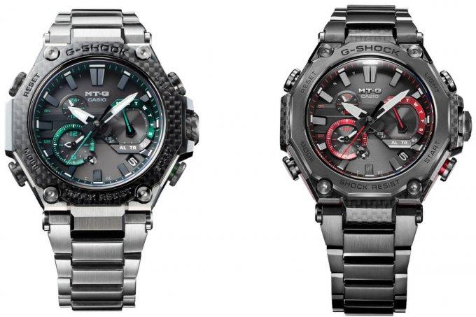 G-Shock  MTG-B2000XD-1A and MTG-B2000YBD-1A with Carbon Fiber Exteriors