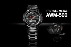 G-Shock AWM-500-1A and AWM-500GC-1A Full Metal Analog-Digital Origin Tributes
