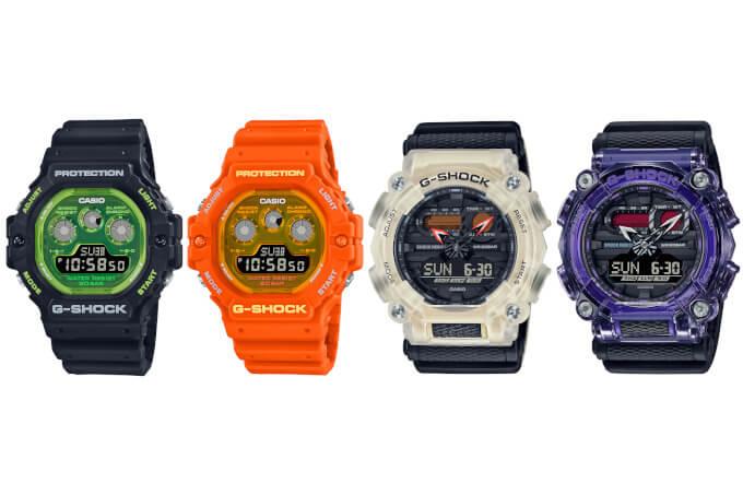 G-Shock Tech Skeleton: DW-5900TS-1 DW-5900TS-4 GA-900TS-4A GA-900TS-6A
