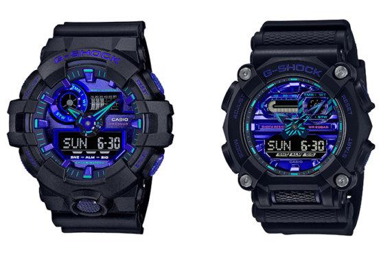 G-Shock GA-700VB-1A GA-900VB-1A Virtual Blue