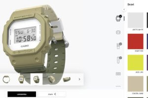 My G-Shock site lets you share an image of your creation