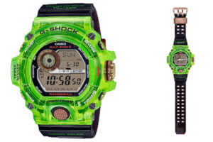 G-Shock Rangeman GW-9407KJ-3JR Love The Sea And The Earth 2021 Earthwatch collab inspired by bioluminescent swell shark