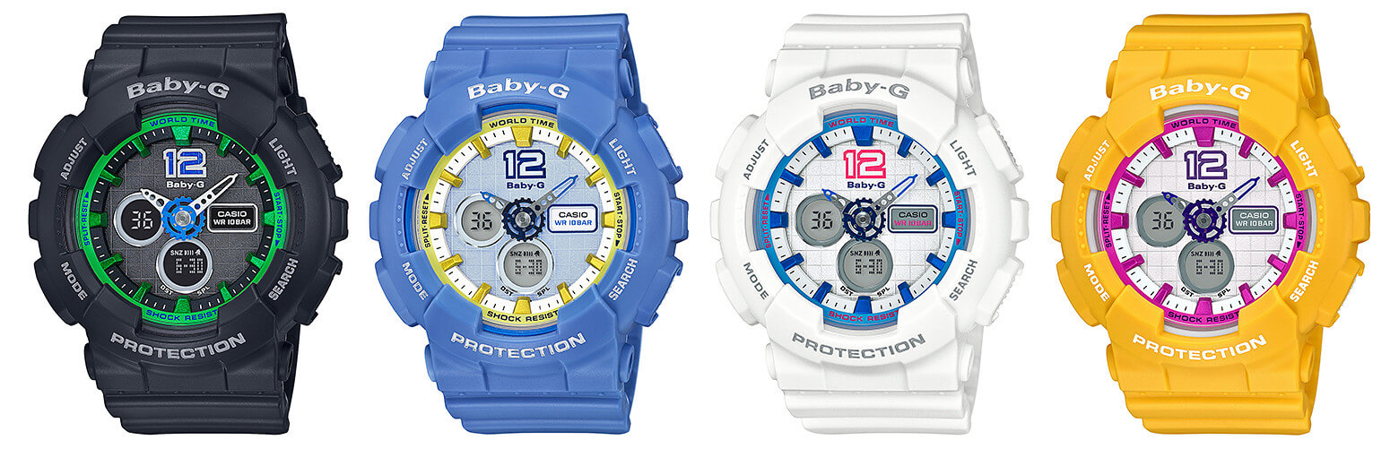 Baby-G Sporty BA-120-1B BA-120-2B BA-120-7B BA-120-9B