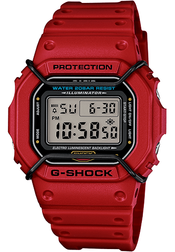 Red G-Shock DW5600P-4