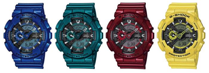 G-Shock Neo Metallic Series GA-110NM-2A GA-110NM-3A GA-110NM-4A GA-110NM-9A