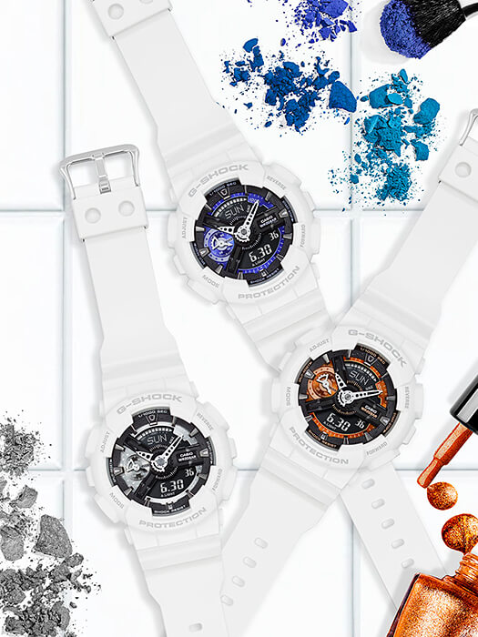 G-Shock GMA-S110CW White S Series Watches for Women