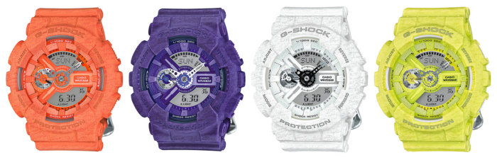 G-Shock Heathered S Series GMA-S110HT-4A GMA-S110HT-6A GMA-S110HT-7A GMA-S110HT-9A