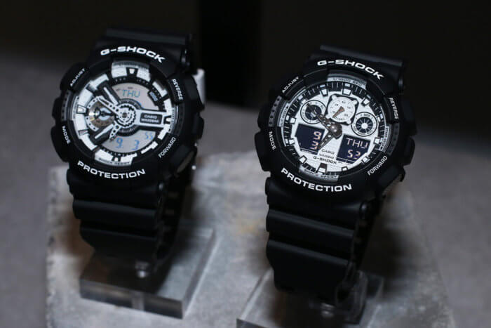G-Shock GA-100BW-1JF White and Black Series