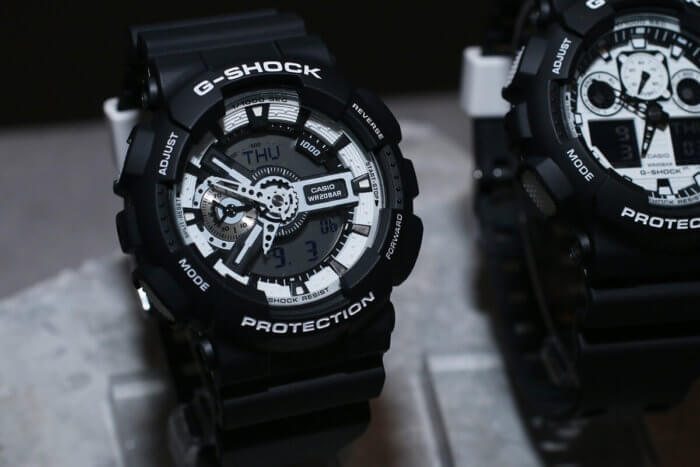 G-Shock GA-110BW-1JF White and Black Series