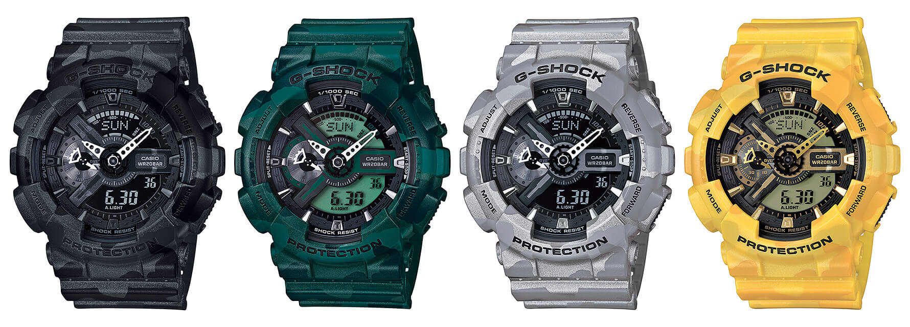 The Top Camouflage G Shock Watches Central Watch Fan Blog Casio Gd 100 1bdr Ga 110cm Series