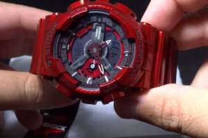 G-Shock GA-110NM-4A Red Neo Metallic Watch