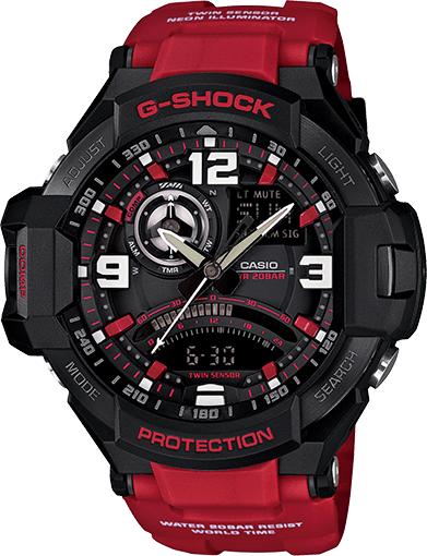 best service 5c097 49708 Red Aviation G-Shock GA1000-4B