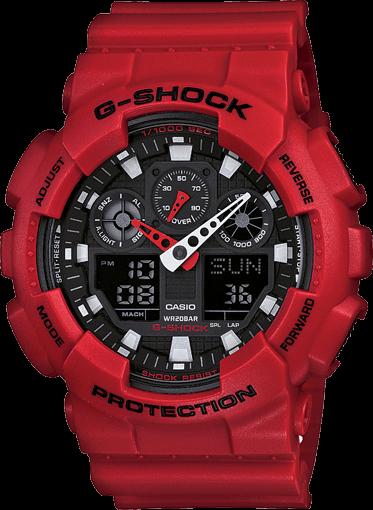 Red G-Shock GA100B-4A