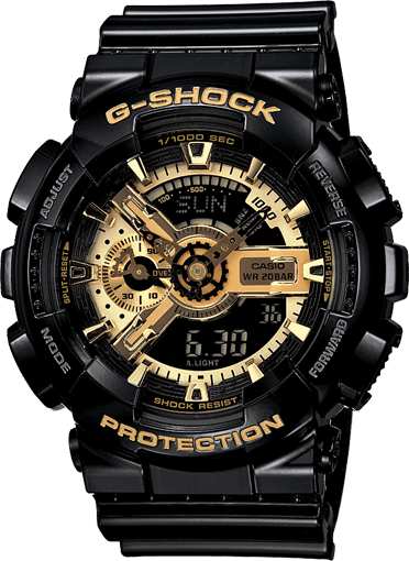 Black and Gold G-Shock GA110GB-1A