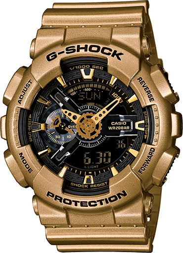 Black and Gold G-Shock GA110GD-9B