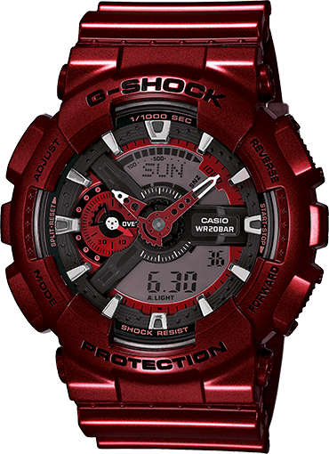 G-Shock GA110NM-4A Red Neo Metallic Series