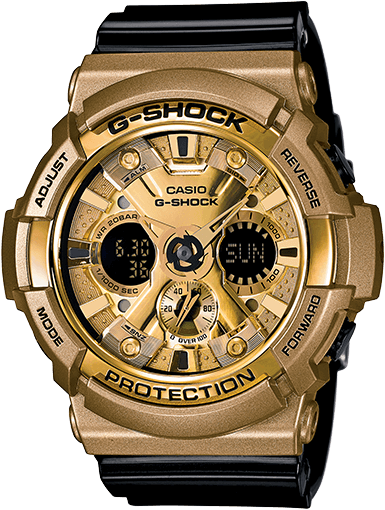 Black and Gold G-Shock GA200GD-9B2