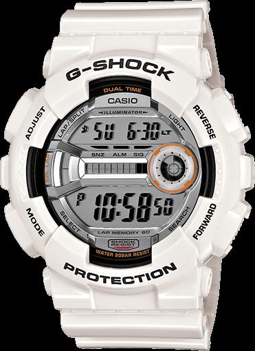 GD110-7 Glossy White G-Shock Running Watch