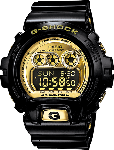 Black and Gold G-Shock GDX6900FB-1