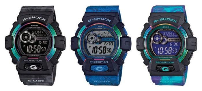 GLS-8900AR-1 GLS-8900AR-2 GLS-8900AR-3 G-Shock G-LIDE Aurora Light