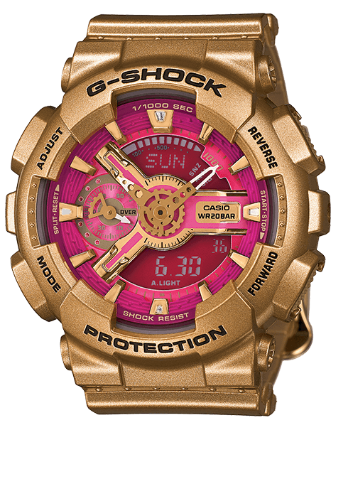 Gold G-Shock S Series GMAS110GD-4A1