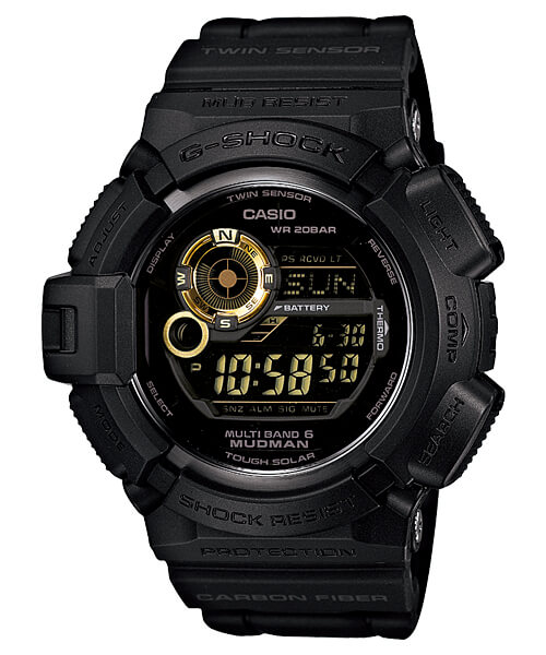 GW-9300GB-1JF Black and Gold Mudman