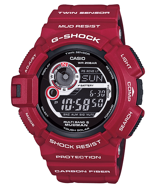 GW-9300RD-4JF Men In Rescue Red Mudman