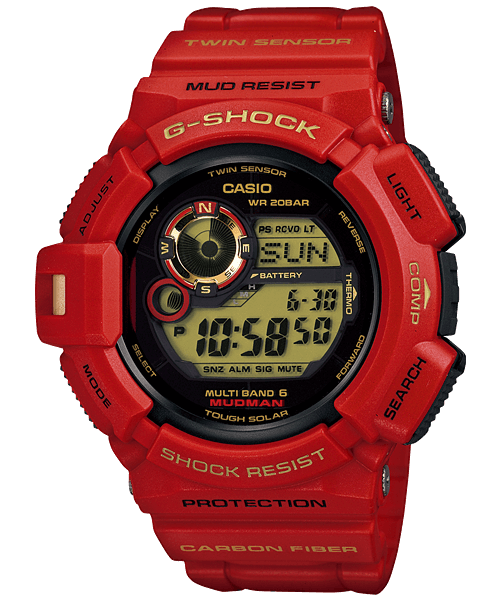 GW-9330A-4JR Rising Red 30th Anniversary Mudman