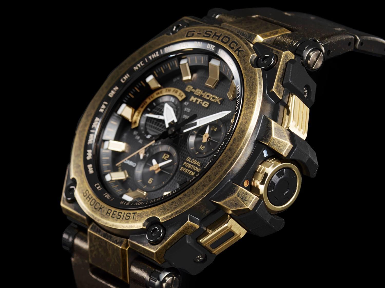 "G-Shock MTG-G1000BS-1A ""2015 Baselworld"" Gold x Black – G-Central G ... 193727825f"